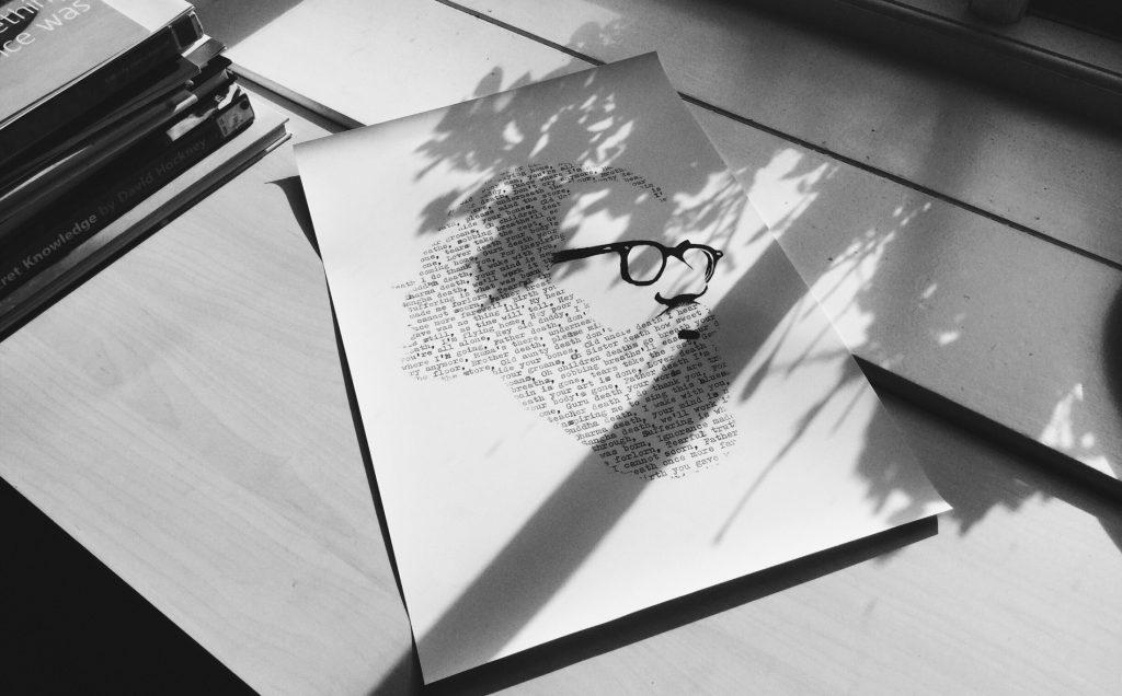 Ginsberg drawing – print