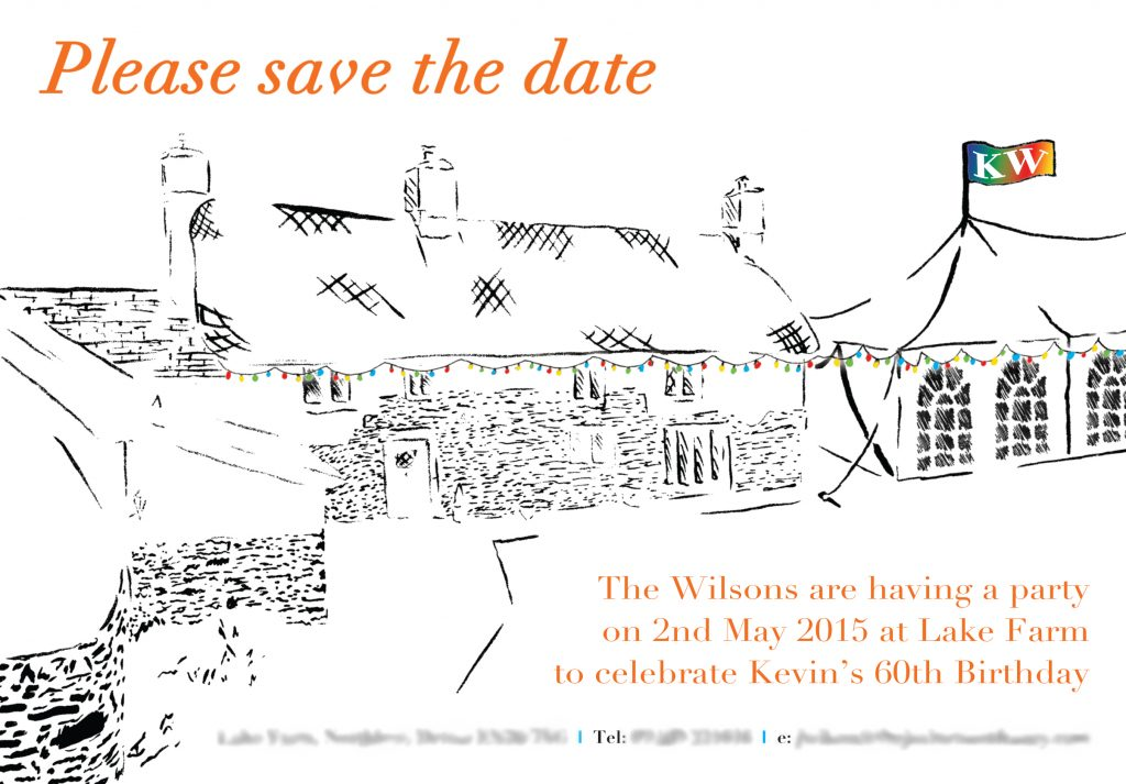 Commissioned illustration for save the date, 2015